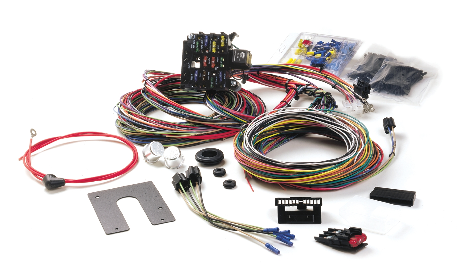 Maxi Fuse Installed Wiring Harness Schematics Diagrams 2000 Mack Diagram Painless Performance Installation In 39 Ford Hotrod Hotline Rh Hotrodhotline Com Peterbilt