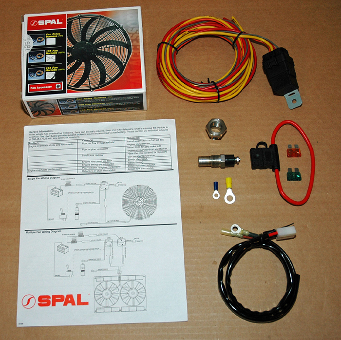 choosing an electric fan control by jim clark the hot rod m d spals fan relay harness kit includes a fan wiring harness relay fuse holder and fan thermostat sending unit 185° or 195°