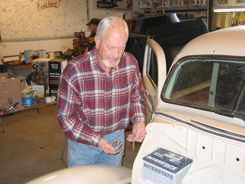 Painless Performance Harness Installation In 39 Ford Hotrod Hotline Wiring 57 Bel Air Bob Burks For Safety Removes All Jewelry Before Starting The Re Wire Of His 1939