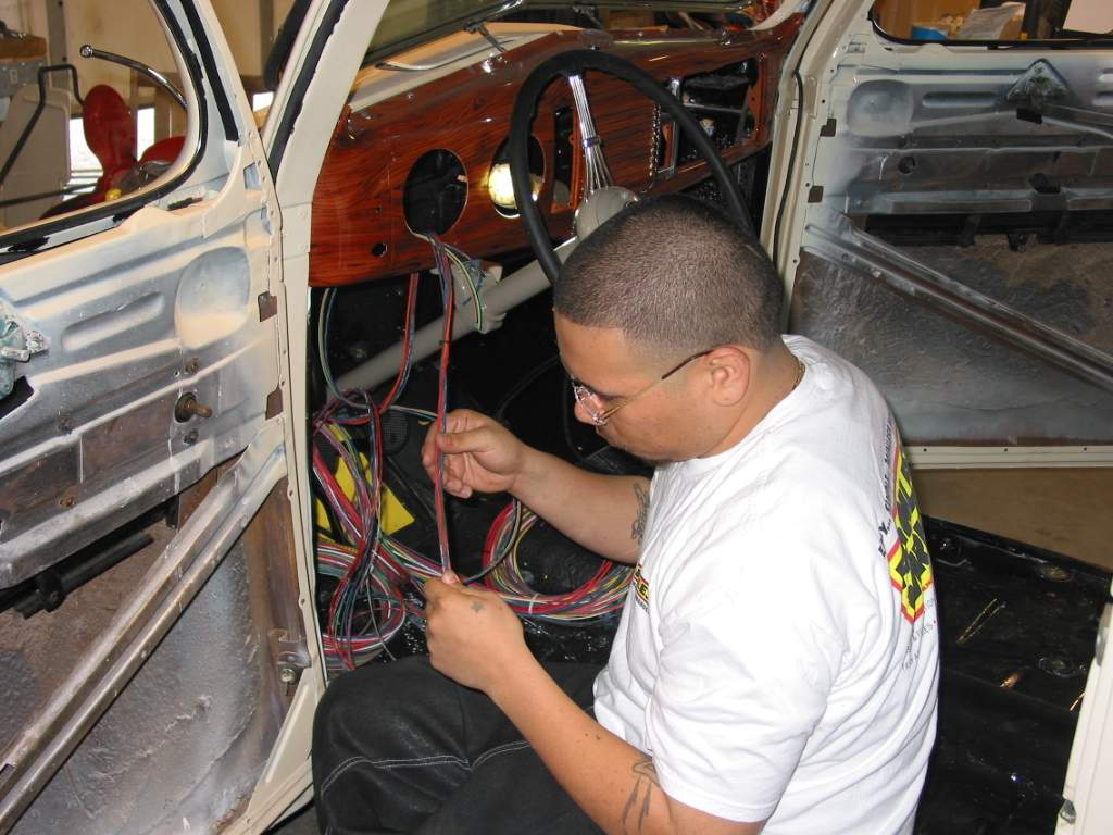 Painless Performance Harness Installation In 39 Ford Hotrod Hotline Control Panel And Wiring For Hot Rods Sergio Now Starts Separating The Different Groups Of Wires Three Main Are Dash Engine Compartment Tail