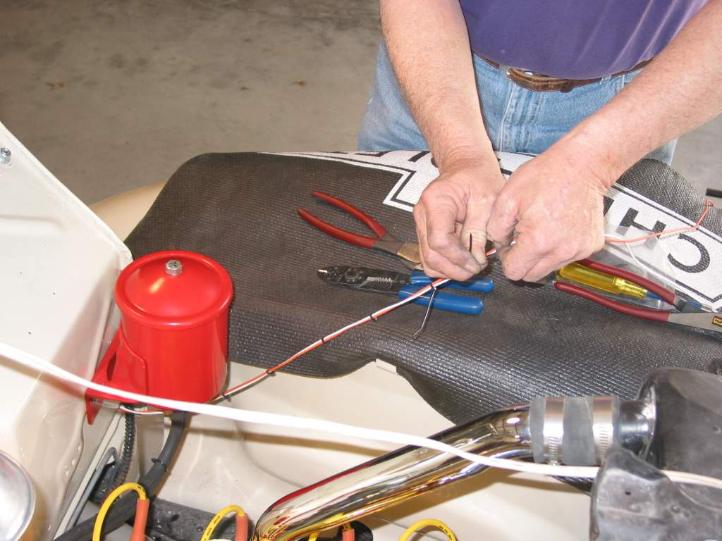 Painless Performance Harness Installation In 39 Ford Hotrod Hotline Wiring Installed Bob Now Uses The Furnished Tie Wraps To Make Wires Into A Small For Easier Routhing Switch