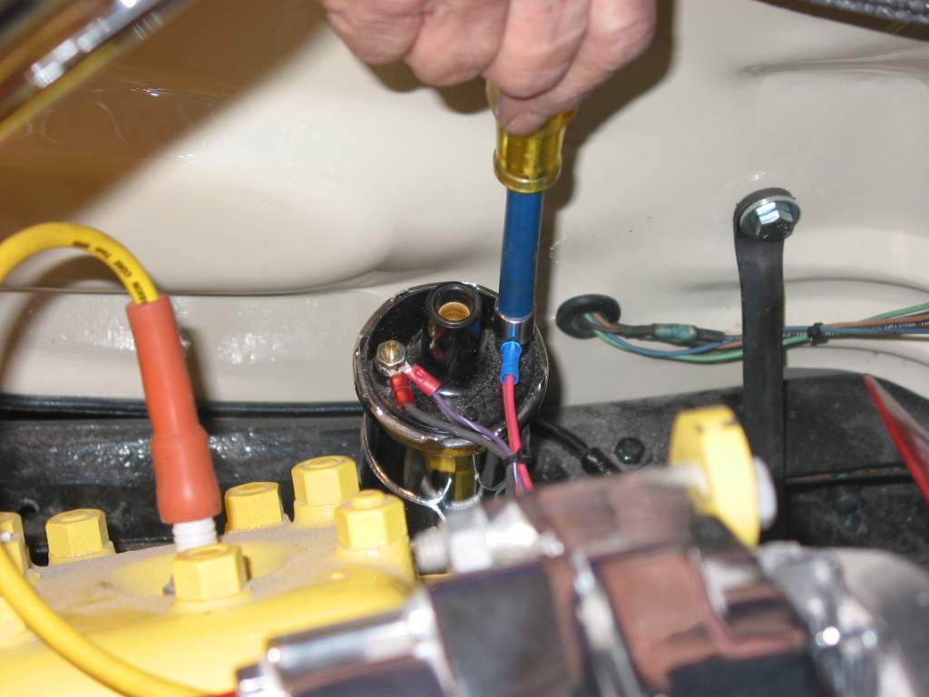 Painless Performance Harness Installation In 39 Ford Hotrod Hotline 1946 Distributor Wiring The Solenoid Activation Wire From Relay Under Dash Was Also Attached Ignition Bypass Terminal On Will Not Be Used This